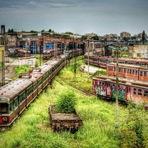 Czestochowa, depósito de trens abandonados, Polônia