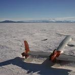 Os restos do Pegasus em McMurdo Sound, Antártida