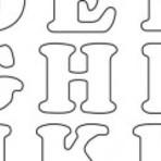 Moldes de letras em EVA
