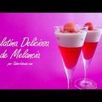 Receita de gelatina de melancia