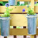 Arquitetura e decoração - Decorando a sacada com materiais recicláveis