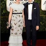 Keira Knightley e James Righton no Globo de Ouro