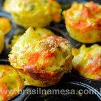 Muffin Salgado Light | Receitas - Dietas - Gastronomia - Brasil na Mesa