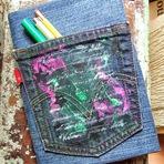 Reciclando O Jeans - Capas para Cadernos e Livros