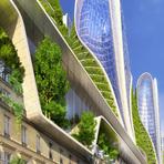 Arquitetura verde para remodelar a Paris de 2050