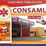 Inscrições Concurso CONSAMU - Consórcio Intermunicipal SAMU Oeste - Edital 2015