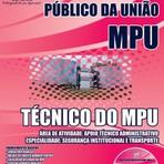 Apostila Técnico do MPU - Concurso Ministério Público da União
