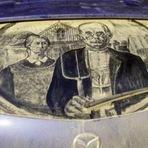Carros com poeira