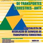 Apostila para o concurso da ANTT Cargo - Especialista Em Regulação De Serviços De Transportes Terrestres