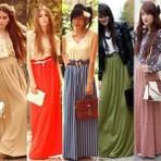 Diversos modelos de saias longas, tendências 2015