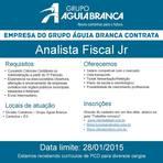 Vagas - Grupo Águia Branca está com oportunidades para Analista Fiscal JR e PCD - ES