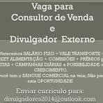 Vagas - Oportunidades para Consultor de Venda e Divulgador Externo - ES