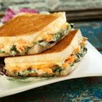 Receitas Masterfoods - Tostex de salmão, creme de espinafre e mussarela
