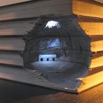 Arte & Cultura - Esculturas de Livros!