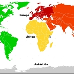 Os continentes do planeta Terra