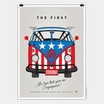 Cartazes da Volkswagen retratam como seriam as Kombis dos super-heróis