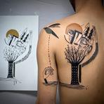Desenhos abstratos viram moda em tattoos