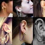 #Brincos folheados EAR CUFF