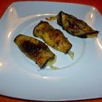 Culinária - Rolinhos de berinjela c/ tâmara e mozarela!