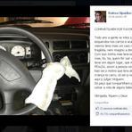 Diversos - Campanha pede que familiares coloquem uma fralda no volante para não esquecer crianças no carro