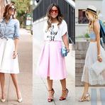 Como usar saia Midi