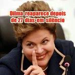 Vejam - Dilma reaparece hoje para após quase um mês em silêncio