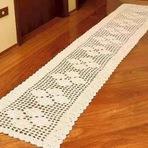 Arquitetura e decoração - Passadeira de Crochê Feita com Barbante