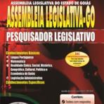 Concursos Públicos - Apostila Assembleia Legislativa Goiás - Pesquisador Legislativo e Assistente Administrativo