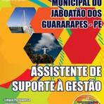 Apostila Assistente de Suporte à Gestão Concurso Jaboatão dos Guararapes-PE
