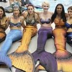 Clube aquático americano recebe convenção de sereias
