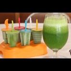 Suco verde e picolé verde detox