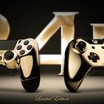 PS4 E XBOX ONE GANHAM CONTROLES 'OSTENTAÇÃO' BANHADOS EM OURO 24K VEJA AGORA.