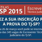 Inscrições Abertas - Técnico Judiciário e Escrevente - São Paulo - SP