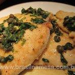 Badejo de Micro-ondas com Molho de Alcaparras | Receitas - Dietas - Gastronomia - Brasil na Mesa
