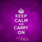 Pulseira Keep Calm And Carry On.