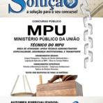Apostila MPU 2015 - Técnico do MPU - Segurança Institucional e Transporte