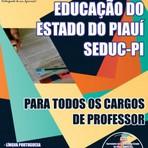Concurso SEDUC-PI Governo do Estado do Piauí  2015