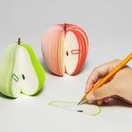 Design - Blocos de notas que parecem frutas de verdade
