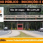 UFSCar em São Carlos abre Concurso Público para Assistente Administrativo - Inscrições e Edital 2015