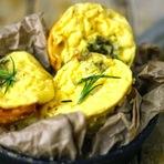 Receita de Muffins de ovo e iogurte