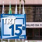 Concurso Público - TRT15ª Região - Níveis Médio e Superior - 2015