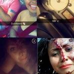 Internet - Jovem faz selfie em acidente de trânsito e posta no Snapchat