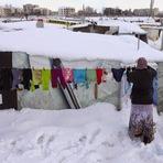 O inverno não dá trégua, imagens de janeiro