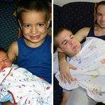 Irmãos recriam fotos de infância para dar de presente à sua mãe