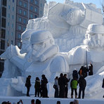 Japoneses criam escultura enorme dos Star Wars