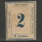 """Hobbies - selo """"Uku Leta"""" 2 cents 1868 Novo"""