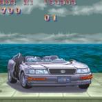 Ryu Street Fighter destruindo carro