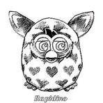 Desenho Para Colorir: Furby