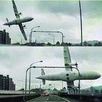 Flagra Incrível, cinegrafista filma quede de avião em Taiwan