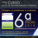 CURSO DE DEPARTAMENTO PESSOAL 2015 - 6 MÓDULOS